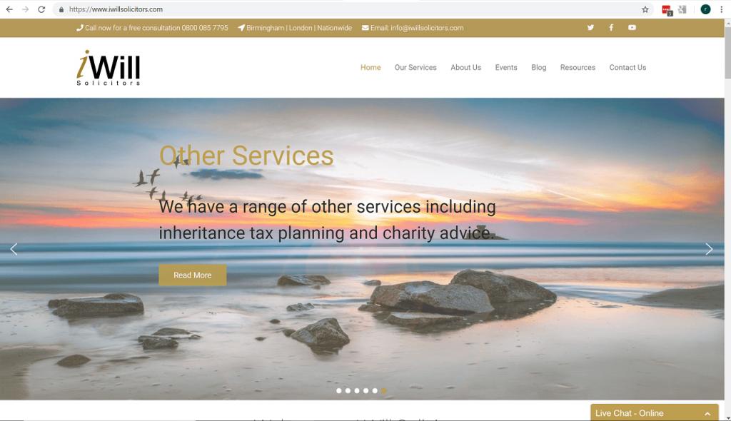 Capture – Website home